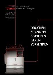 drucken scannen kopieren faxen versenden - Canon Deutschland