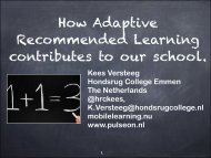 How adaptive recommended learning contributes to our ... - itslearning