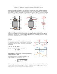 Example 11-1 Variation - Rolling Element Bearing Selection