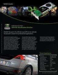NVIDIA Quadro® FX 4700 X2 Product Overview - PNY