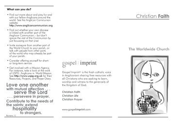 Worldwide Church - Gospel Imprint