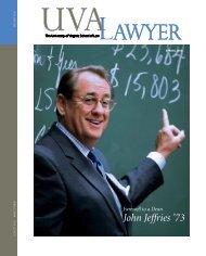 John Jeffries '73 - University of Virginia School of Law