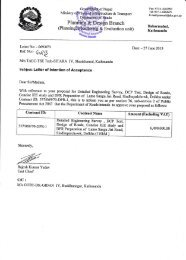 Subject: Letter of tntention of Acceptance - About Department of Road
