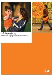 HP Accessibility - Hewlett-Packard