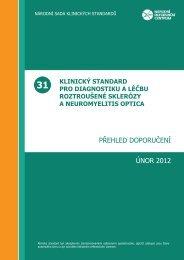 PŘEHLED DOPORUČENÍ ÚNOR 2012 - Národní referenční centrum