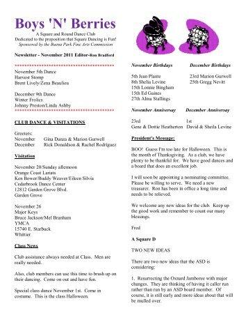November - Boys'N'Berries Square Dance Club