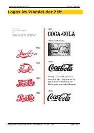 Logos im Wandel der Zeit - Werbedesign