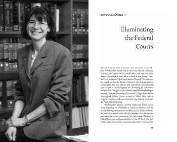 Anne Woolhandler - University of Virginia School of Law