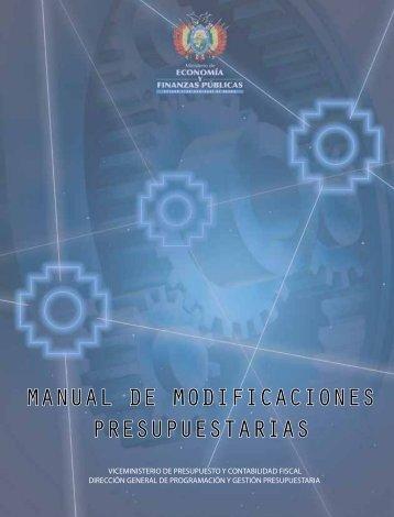 manual de modificaciones presupuestarias - Ministerio de ...
