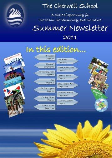 Summer Newsletter 2011 - Cherwell School
