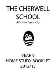 YEAR 9 HOME STUDY BOOKLET 2012/13 - Cherwell School