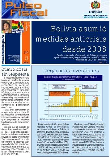 Bolivia asumió medidas anticrisis desde 2008 - Ministerio de ...