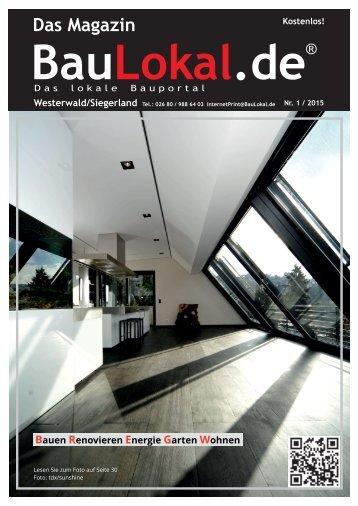 BauLokal.de - das Magazin Ausgabe 1/2015 Siegerland / Westerwald