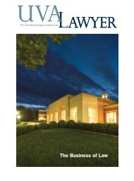 The Business of Law - University of Virginia School of Law