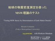 地球の物質密度測定を使った MSW理論のテスト