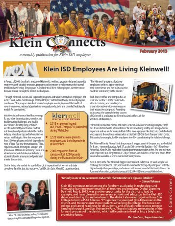 February 2013 - Klein Independent School District