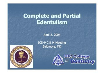 Complete and Partial Edentulism