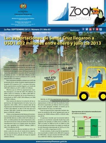 Las exportaciones de Santa Cruz llegaron a USD1.802 millones ...
