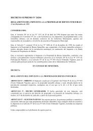 DECRETOS SUPREMOS IPBI