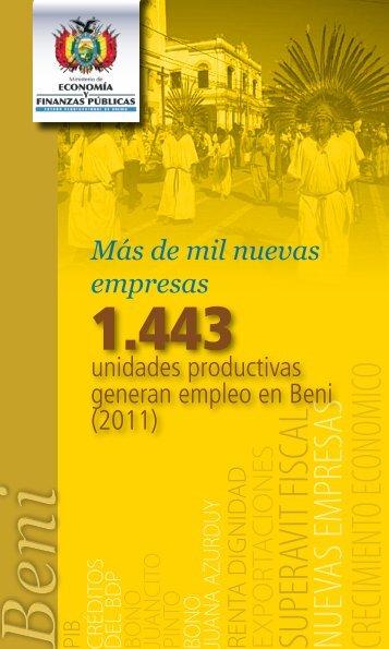 Beni - Ministerio de Economía y Finanzas Públicas