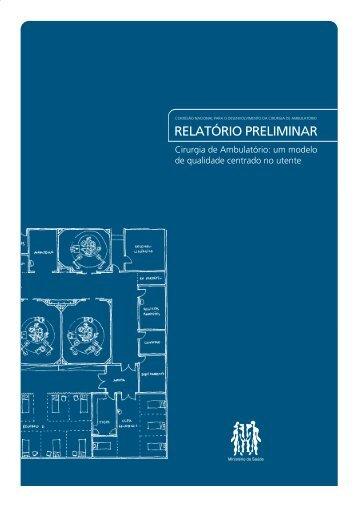 Relatório Preliminar - Portal da Saúde