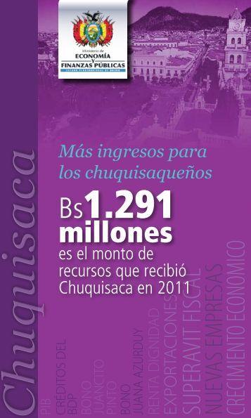 Ch uquisaca - Ministerio de Economía y Finanzas Públicas