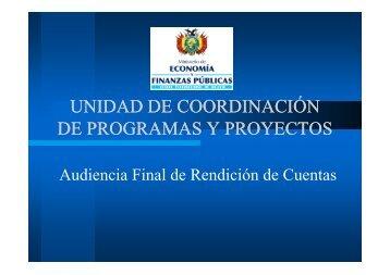 unidad de coordinación unidad de coordinación de programas y ...