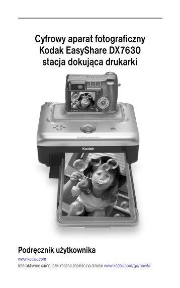 Drukowanie z cyfrowego aparatu fotograficznego EasyShare - Kodak