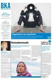 Berner Kulturagenda 2015 N°10