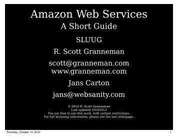 Amazon Web Services (slides) - Scott Granneman