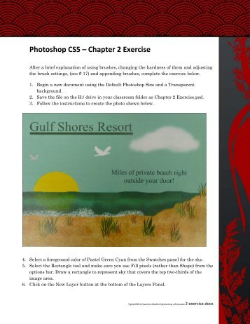 Photoshop CS5 – Chapter 2 Exercise