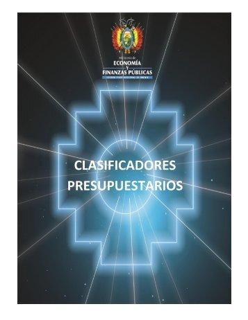 Clasificadores 2014 - Ministerio de Economía y Finanzas Públicas