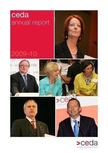 2009-10 annual report - CEDA