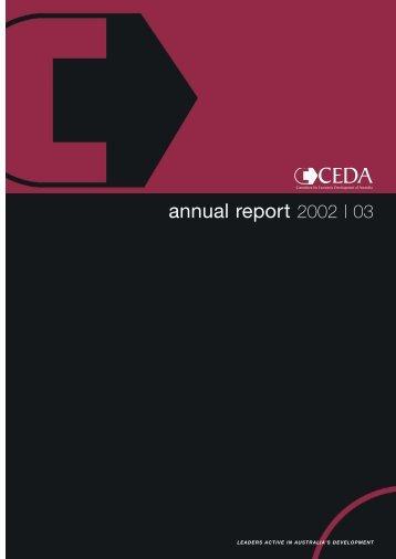 CEDA Annual Report 2002-03