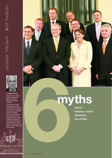 Six myths of federal-state financial relations - Ceda