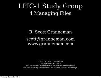Slides - Scott Granneman