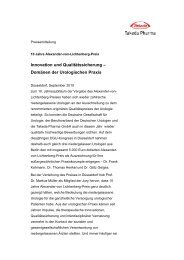 Domänen der Urologischen Praxis - Alexander-von-Lichtenberg-Preis