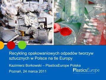 15 Recykling odpadów opakowaniowych z tworzyw sztucznych