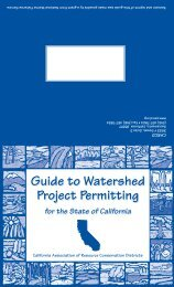 Watershed Project Permitting Guide - UC Agriculture and Natural ...