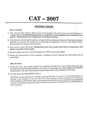 CAT — 2007
