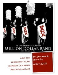 So..you want to join us for A-Day 2013? - University of Alabama Bands