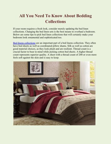 All You Need To Know About Bedding Collections
