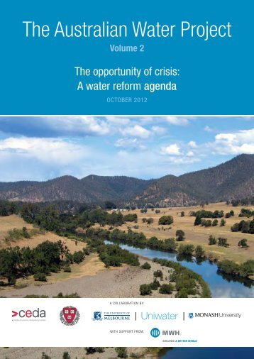 The opportunity of crisis: A water reform agenda - Ceda