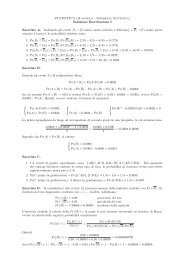 Soluzione - Dipartimento di Statistica