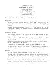 Curriculum Vitae Francesco Bartolucci
