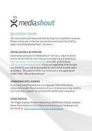 QuickStart Guide - MediaShout
