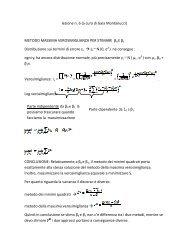 lezione 6 - Dipartimento di Statistica