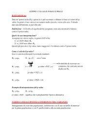 lezione 5 - Dipartimento di Statistica
