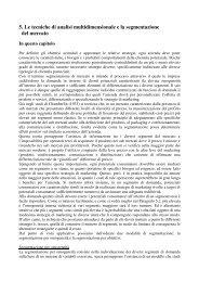 5. Le tecniche di analisi multidimensionale e la segmentazione del ...