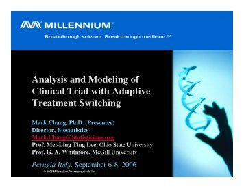 Analysis and Modeling of Clinical Trial with Adaptive Treatment ...